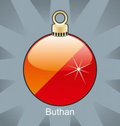 Bhutan flag on bulb vector image vector image