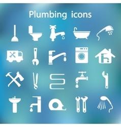 Icons set Plumbing vector image