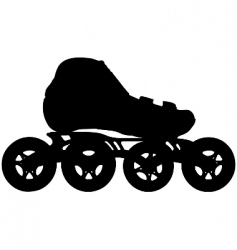inline skate vector image vector image