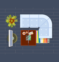 living room planning dark vector image