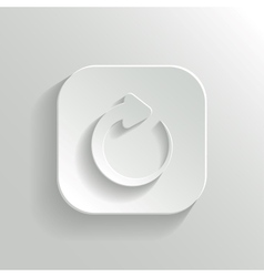 Media player icon - white app button vector image vector image