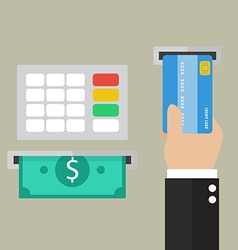 Money deposit and withdrawal vector image vector image