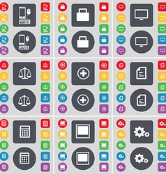 Smartphone Lock Monitor Scales Plus Text file vector image vector image