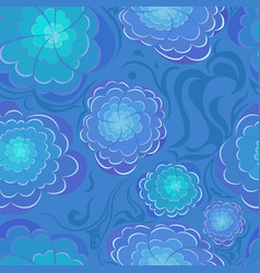 Abstract blu flowers vector