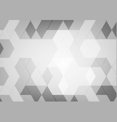 abstract geometric black and white color with vector image vector image