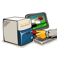 loading computer vector image