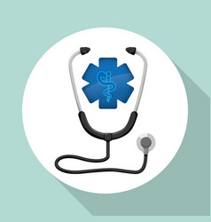 medical care design health care icon isolated vector image