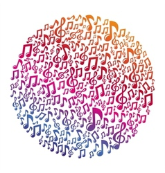 music concept - musical notes vector image