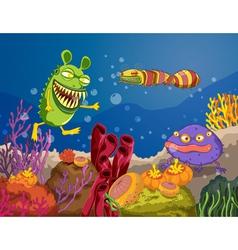 A under water monster vector