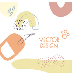 abstract background with shapes vector image