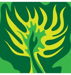 Abstract green tree green color vector