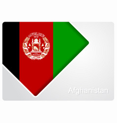 Afghanistan flag design background vector