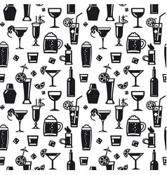 alcohol drinks pattern vector image