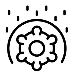 Antibacterial icon outline style vector