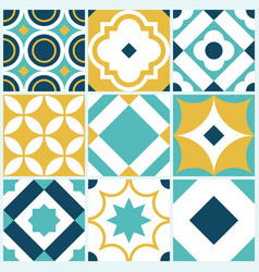 azulejo seamless tile pattern vintage decorative vector image
