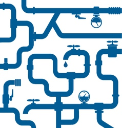 Background of water pipeline vector