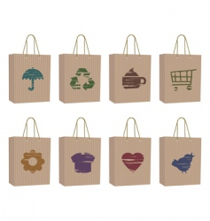bags with icons vector image