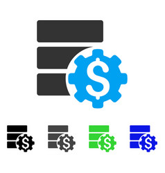 Bank database options flat icon vector