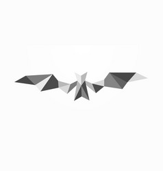 bat polygonal abstract emblem geometric bat vector image