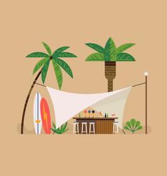 beach bar tent scene vector image