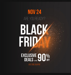Black friday poster template with explosion effect vector