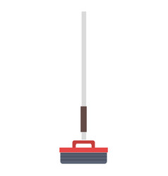 broom cleaning isolated icon vector image