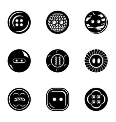 button bright icons set simple style vector image