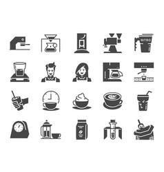 Coffee shop icon set vector