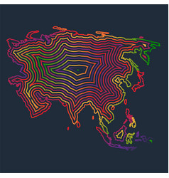 colorful asia made by strokes vector image