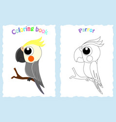 coloring book page for children with colorfu vector image