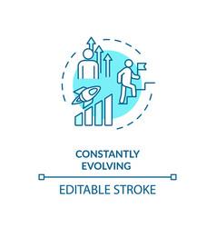Constant evolving concept icon vector