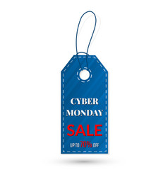 cyber monday sales tag grouped for easy editing vector image
