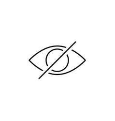 Disable eye hide outline icon signs and symbols vector