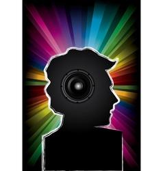 Disco music party invitation vector