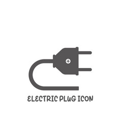 electric plug icon simple flat style vector image