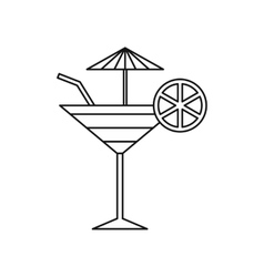 Fruit cocktail icon outline style vector