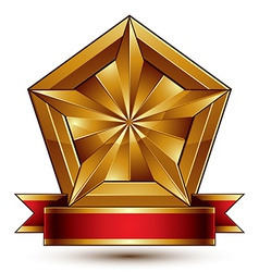 Glorious glossy design element luxury 3d vector