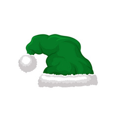 green santa hat party holidays masquerade head vector image