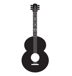 guitar icon on white background guitar sign vector image vector image