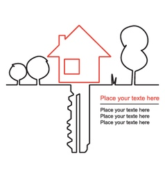 House key and mortgages vector