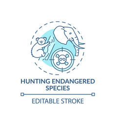 Hunting endangered species turquoise concept icon vector