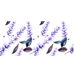 lavender watercolor pattern delicate vector image