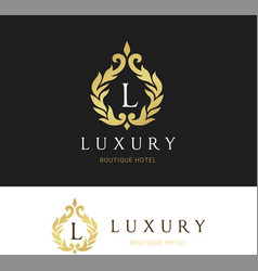 Luxury logo crests logo logo design for hotel vector