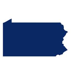 Map pennsylvania in blue colour vector