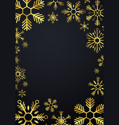 merry christmas and happy new year glod vector image