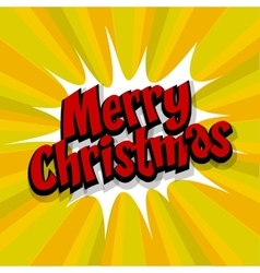Merry Christmas yellow background vector