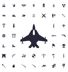 Military plane icon vector