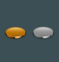 modern money coins icon on sample vector image