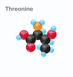 Molecule of threonine thr an amino acid used in vector