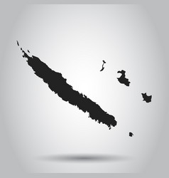 new caledonia map black icon on white background vector image
